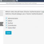 Dit is de admin pagina (onder gebruikers) om de 2 factor per gebruikersrol aan en uit te zetten